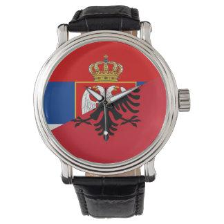 Relógio De Pulso símbolo do país da bandeira de serbia Albânia meio