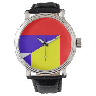 Relógio De Pulso símbolo do país da bandeira de serbia romania meio
