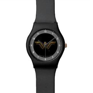 Relógio De Pulso Símbolo metálico da mulher maravilha da liga de