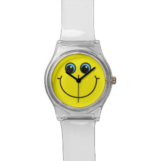 Relógio De Pulso Smiley face amarelo