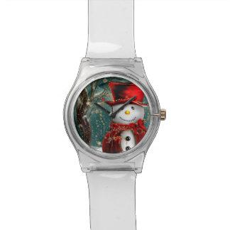 Relogio De Pulso Snowmans bonitos - ilustração do boneco de neve