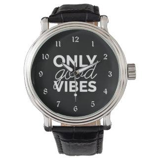 Relógio De Pulso Somente boas impressões preto e branco