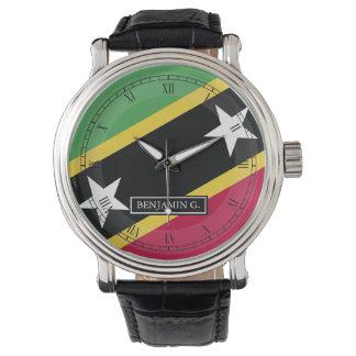 Relógio De Pulso St.Kitts e nome do costume de Nevis