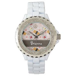 b162bae5a69 Relógios de Pulso Bolinhas Verdes E Pretas Femininos