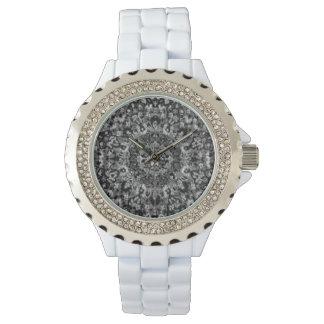Relógio De Pulso Tapete oriental preto e branco