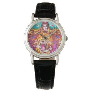 Relógio De Pulso TAROTS das SOMBRAS PERDIDAS /Strength/fortaleza