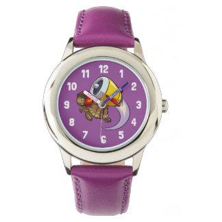 Relógio De Pulso Tartaruga do vôo do temerário com uns desenhos