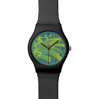 Relógio De Pulso Tempo é dinheiro símbolo do dólar