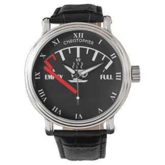 Relógio De Pulso Tempo engraçado da caneca de café do calibre de