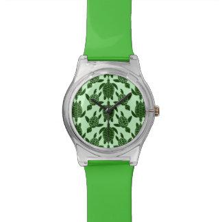 Relógio De Pulso Teste padrão animal bonito da tartaruga de mar