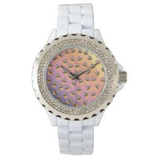Relógio De Pulso Teste padrão bonito do cone do sorvete de Emoji do
