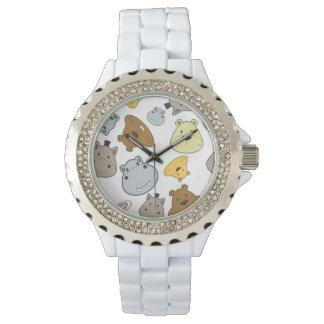 Relógio De Pulso Teste padrão bonito do retrato dos animais dos