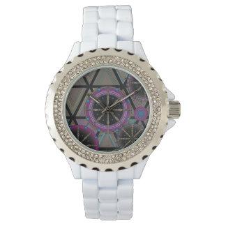Relógio De Pulso Teste padrão brilhante dos círculos e dos