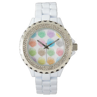 Relógio De Pulso Teste padrão colorido dos rosas