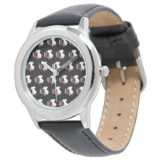 Relógio De Pulso Teste padrão da cobaia da concha de tartaruga,