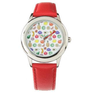 Relógio De Pulso Teste padrão da fruta