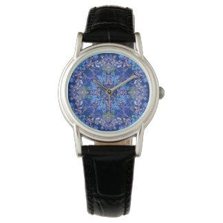 Relógio De Pulso Teste padrão floral da aguarela do lux lunático à