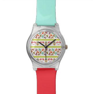 Relógio De Pulso Teste padrão psicótico da páscoa colorido