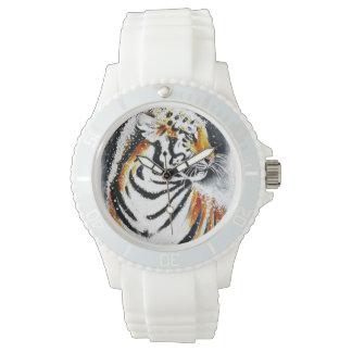 Relógio De Pulso Tigre na neve noir