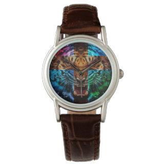 Relógio De Pulso Tigre transversal - tigre irritado - cara do tigre