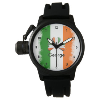 Relógio De Pulso Tri trevo irlandês afligido das cores