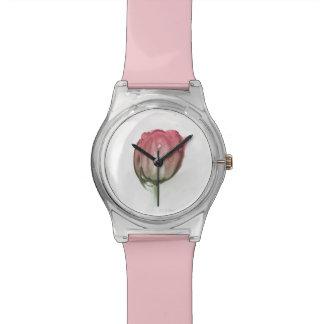 Relógio De Pulso Tulipa vermelha