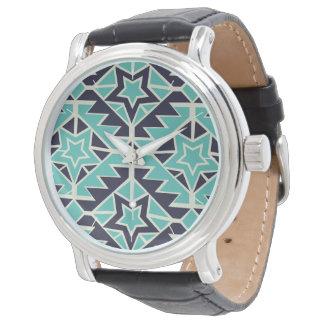 Relógio De Pulso Turquesa e marinho astecas