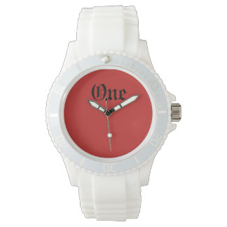 Relógio De Pulso Um silicone branco desportivo feito sob encomenda