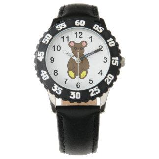 Relógio De Pulso Urso de Brown bonito