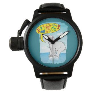 Relógio De Pulso Urso polar que diz as palavras más que estão no