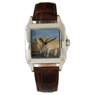 Relógio De Pulso Vacas fulvas das montanhas,