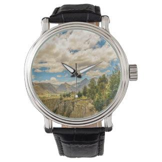 Relógio De Pulso Vale e montanhas Latacunga Equador da escala de