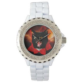 Relógio De Pulso vampiro do gato - gato preto - gatos engraçados