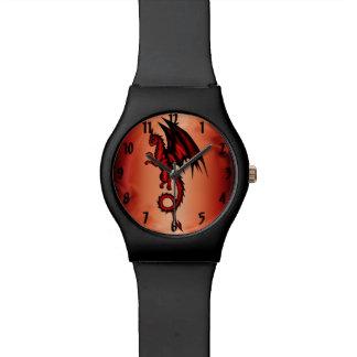 Relogio De Pulso Vermelho do dragão