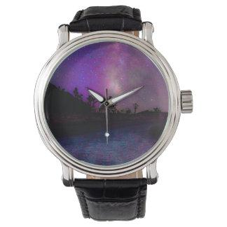 Relógio De Pulso Via Láctea do parque nacional de árvore de Joshua