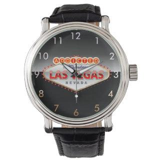 Relógio De Pulso Viciado sinal engraçado de Las Vegas, Nevada