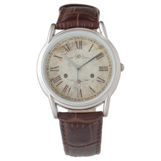 Relógio De Pulso Vintage antigo original do numeral romano rústico