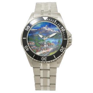 Relógio De Pulso Vista panorâmica da montanha Nepal de Everest