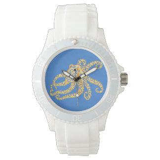 Relógio De Pulso Vitral azul do polvo