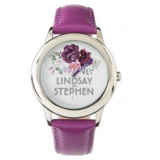 Relógio De Pulso watch couro lindsay and stephen