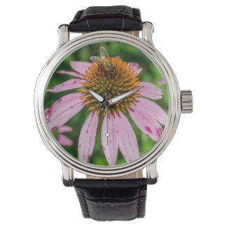 Relógio De Pulso Wildflowers Pollinating da abelha em New mexico