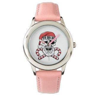 Relógio De Pulso Yo ho ho - papai noel do pirata - Papai Noel