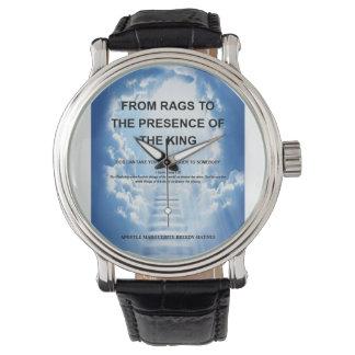 Relógio De Rags à presença do rei Observação