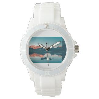 Relógio de senhoras azul do lago