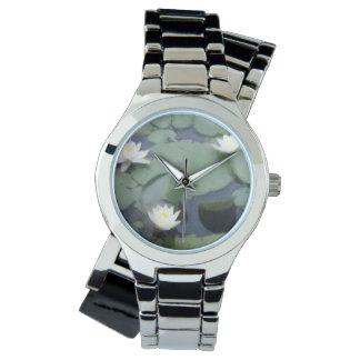 Relógio de três lírios para mulheres