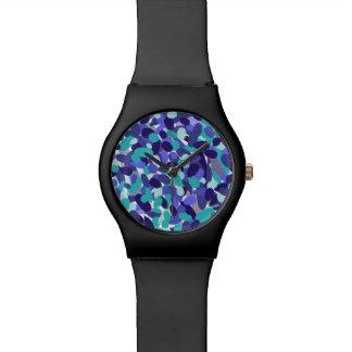 """Relógio de vidro do design da """"praia azul"""""""