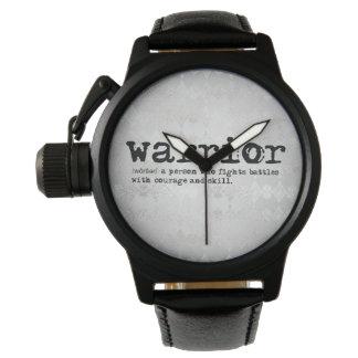 Relógio Definição de prata do guerreiro