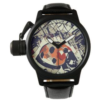 Relógio Desenho estilizado de um joaninha vermelho
