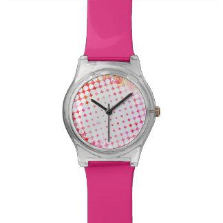 Relógio Design de explosão cor-de-rosa da banda desenhada