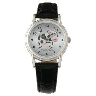 Relógio Design personalizado da vaca